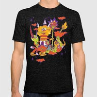 Steady Casting Spells Mens Fitted Tee Tri-Black SMALL