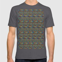 Scribbled Unicorns Mens Fitted Tee Asphalt SMALL