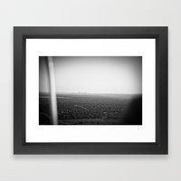 skyline haze::denver Framed Art Print