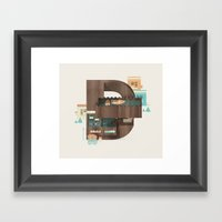 Resort Type - Letter D Framed Art Print