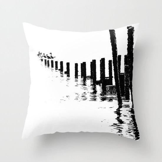 MONO SEA Throw Pillow