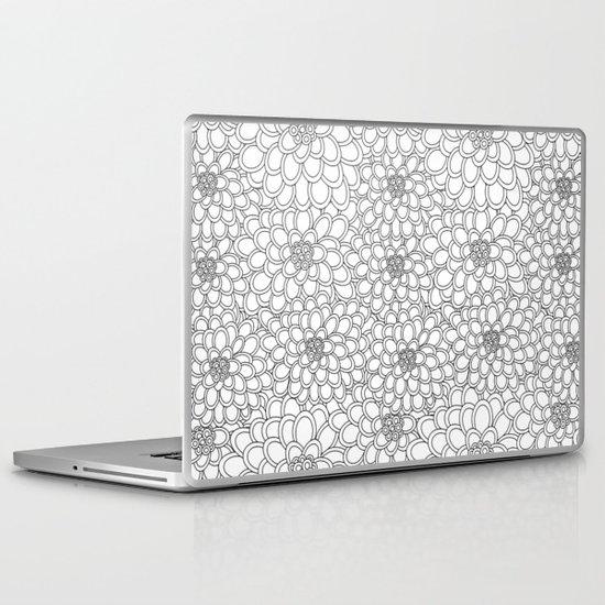 """White flowered trees"" Laptop & iPad Skin"