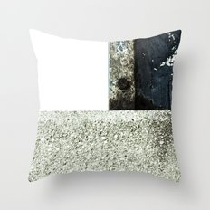White Blue Concrete Throw Pillow