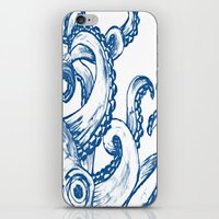 Blue Octopus iPhone & iPod Skin