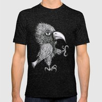Grouchy Bird Mens Fitted Tee Tri-Black SMALL