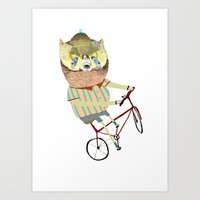 Biking, Bike, Bikes, Bik… Art Print