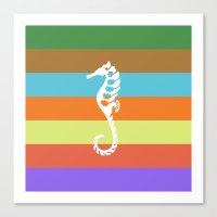 Sea Side Story: Seahorse… Canvas Print