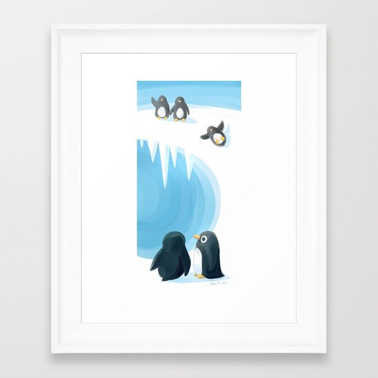 Penguin Playground Framed Art Print
