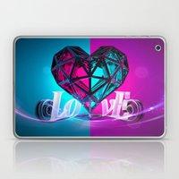 love 2/2 Pink side Laptop & iPad Skin