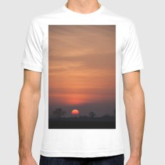 Sunset over Norfolk Mens Fitted Tee White SMALL
