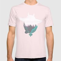 Troll Atop the Dreamland Forest Mens Fitted Tee Light Pink SMALL