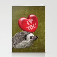 Hedgehog In Love With A … Stationery Cards