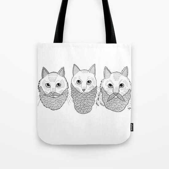 Cats With Beards Tote Bag
