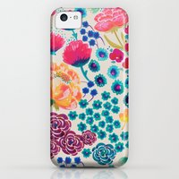 iPhone 5c Cases featuring Flowers II by moniquilla