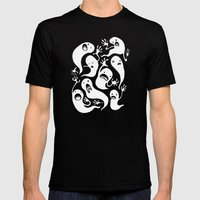 Ghosties Mens Fitted Tee Black SMALL