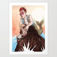 Rebel Ariel Art Print