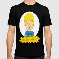 TRUMP-HEAD Mens Fitted Tee Black SMALL