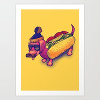 Chicago Dog Art Print