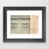 Paris Mint Door Framed Art Print