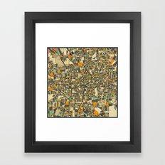 ATLANTA MAP Framed Art Print
