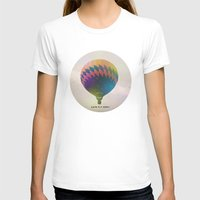 Lets Fly Away Womens Fitted Tee White SMALL