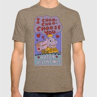 The Simpsons: I Choo-cho… Mens Fitted Tee Tri-Coffee SMALL