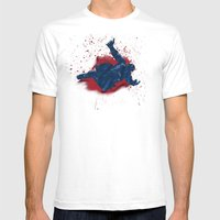When Hondas Fly (Homage To Street Fighter's E. Honda) Mens Fitted Tee White SMALL
