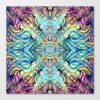 Rainbow Pukkalele Canvas Print