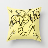 Eel Power Throw Pillow