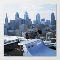 Bam - Philly Skyline Canvas Print