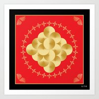 Fleuron Composition No. 149 Art Print