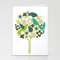 Birdy Num Num Stationery Cards