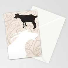 Farm Poster #1 -Goats Stationery Cards