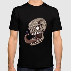 Little piece of my heart for the Giant skull SMALL Black Mens Fitted Tee