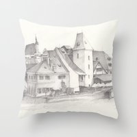 The Magic Town Throw Pillow