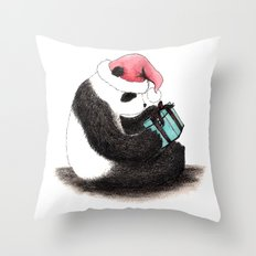 Christmas Panda Throw Pillow