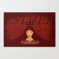 Esther Confronts Xerxes … Canvas Print