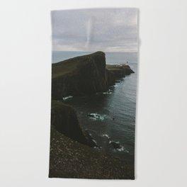 Beach Towel - Neist Point Lighthouse at the Atlantic Ocean - Landscape Photography - regnumsaturni