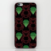 Emeralds & Demons [BLACK] iPhone & iPod Skin