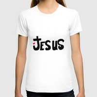 Jesus Womens Fitted Tee White SMALL