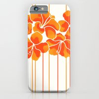 Hibiscus Stripe: Orange … iPhone 6 Slim Case