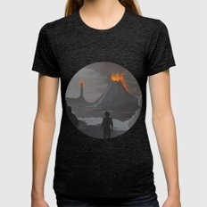 Lord Of The Rings Womens Fitted Tee Tri-Black SMALL