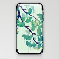 O Ginkgo (in Green) iPhone & iPod Skin