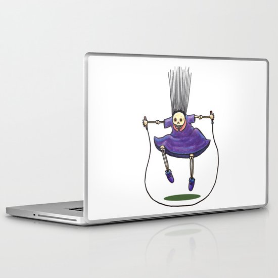 Jumprope Girl Laptop & iPad Skin