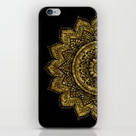 iPhone & iPod Skin featuring Black And Golden Mandala by Haroulita