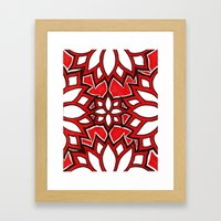 red lotus Framed Art Print