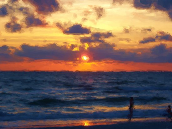 Sunset on Marco Island Art Print