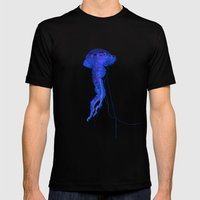 Jellyfish Mens Fitted Tee Black SMALL