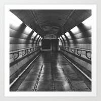 Underground: Waterloo (3) Art Print