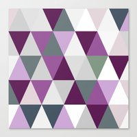 Big triangles lilac Canvas Print